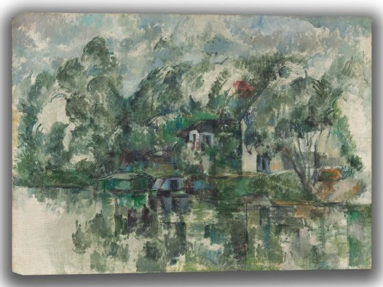 Cezanne, Paul: At the Water's Edge. Fine Art Canvas. Sizes: A4/A3/A2/A1 (003566)